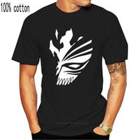 Cosplay Hollow Mask Bleach Ichigo Kurosaki Anime Manica Corta T-2021 Mans Cotton Stampa uomo T Shirt