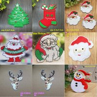 Christmas patches for clothing iron on patches embroidery patch applique parches diy gifts set stickers for clothes