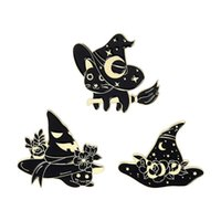 Cute Enamel Brooches Pin for Women Girl Fashion Jewelry Accessories Metal Vintage Brooches Pins Badge Wholesale Punk Cat C3