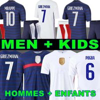 MAN + KIDS 2021 GRIEZMANN MBAPPE camiseta de fútbol KANTE 20 21 POGBA camiseta 2018 Francia camiseta de fútbol ZIDANE GIROUD MATUIDI Kimpembe Ndombele Thauvin