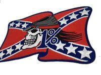 Personnalité Rider gratuit American Rebel Brodé Brodé Moker Back Patch MC Veste Gilet Cuir 1% Bage Bage EWD6444