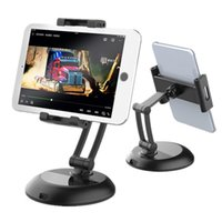 Desktop Tablets Holder Mount 360 Degree Rotation Adjustable Lazy Cell Phone Stand for iPad iPhone Samsung Smartphones Tablet PC