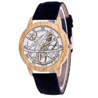 손목 시계 여성 클래식 패션 캐주얼 가죽 스트랩 시계 위도 및 경도 아날로그 쿼츠 라운드