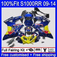 Injection Blue yellow hot Mold Fairings For BMW S 1000RR S1000-RR S1000RR 09 10 11 12 13 14 Bodywork 1No.17 S 1000 RR S1000 RR 2009 2010 2011 2012 2013 2014 OEM Bodys kit