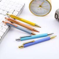 Pulverización Ge Texture PRS Moda Metal Punto de Bola Pen Signature Oily Signature Busines Regalo Oficina Inicio