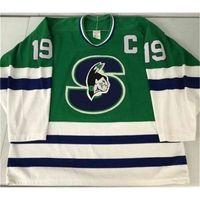 121121Rare Jersey Hóquei Homens Juvenil Mulheres Vintage Personalizar AHL Springfield 1990-93 Picard Tamanho S-5XL Personalizado Qualquer nome ou número