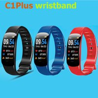 Smart Bracelet IP67 C1Plus Wristbands Color Screen Bluetooth Call Fitness Tracker Real Heart Rate Blood Pressure Waterproof Sport Watch Detail Box