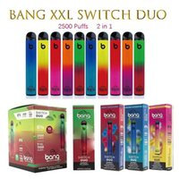 Bang XXL Commutateur Duo Cigarettes jetables Duo 2in1 2500 Puffs 7ml 1100mAh 6% Oil Pods 8 Couleurs VS Randm Pro Dazzle Air Bar Max bouffée
