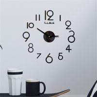 Acrílico Relógio de Parede DIY Espelho Relógio de Parede Arte Acrílico 3D Espelho Adesivo Home Office Decor Presente Exclusivo RRD7045