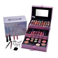 Professional Makeup Set 3 Lyers Suitcase Kit Eye Glitter Lipstick Brushes Eyeliner Cosmetic For Eyeshadow Palette1