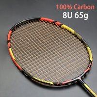 Ultralight 8U 65G углерод профессиональный бадминтон ракетка струны нарисованные мешок многоцветный Z Speed Force Raket RQUETA PADEL 22-30LBS