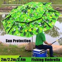 2M 2.2M 2.4M складной дождь, дождь рыбалка зонтик двойной слой открытый кемпинг рыбалка пляж солнцезащитный крем солнечного зонтика зонтик 1