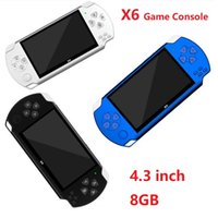 X6 Handheld Game Players 8GB Memory Portable Video Game Consoles 4.3 inch Support TF Card TV-OUT MP3 MP4 Player 3 colors Best quality
