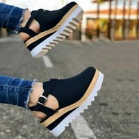 Sandals High Heel Shoes Woman Vintage Flat Platform Ladies Women Fashion Comfortable Female Sandalias Mujer