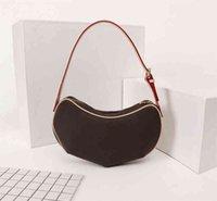 Alto designer bolsas de luxo bolsas medieval ervilha sob axila mulheres marca estilo genuíno bolsas de ombro de couro