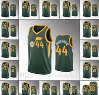 2021 jerseys de basquete profissional homens Donovan Mitchell Rudyutah Gobert Bojan Bogdanovic Mike Conley Custom Green Jerseys S-2XL