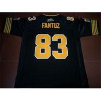 Gewohnheit 009 Jugendfrauen Vintage Hamilton Tiger-Cats # 83 Andy Fantuz Football Jersey Größe S-5XL oder benutzerdefinierte Name oder Nummer Jersey