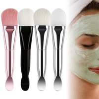 Makeup Brushes Double-headed Mask Brush With Scoop 2in1 For FACIAL Mud Professional