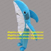 Blue Shark Killer Whale Grampus Costume Mascot Adulto Cartoon Personaggio Outfit Suit Sport Carnevale Routine Press Briefing ZX125