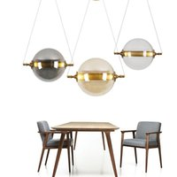 Pendant Lamps Modern Minimalist LED Restaurant Chandelier Creative Glass Ball Bedside Table Hanging Lamp Nordic Bedroom Bar Cafe