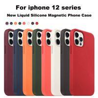 Mobiltelefonfodral PU Läder Officiell Case för iPhone 12Mini 12 Pro Max Magsafe-funktionen