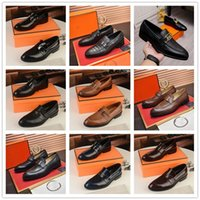 A1 MADAO1 16 Model High quality designer mens dress shoes leather Metal snap Peas wedding Shoe Fashion Flats driving sneakers Size 6.5-11