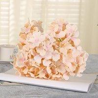 Nuovo design Artificiale Hydrangea Hydrangea Flower Head Decorazione bouquet da sposa o FAI DA TE Sfondo di produzione con BWB7513