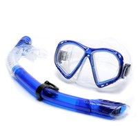 스쿠버 다이빙 마스크와 스노클링 안티 안개 고글 안경 수영 쉬운 호흡 튜브 세트 드라이 스노클 마스크