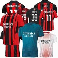 2019 2020 2021 2022 Jerseys de futebol AC Ibrahimovic Theo S.Castillejo Brahim Milão 120th Aniversário 20 21 22 Camisa de Futebol 4xl