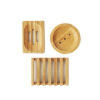 에코 친화적 인 자연 대나무 비누 접시 3 스타일