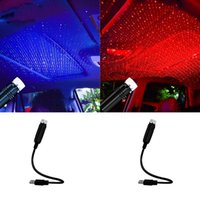 Car Roof Projection Light USB Portable Star Night Lights Adjustable LED Galaxy Atmosphere Lighting Interior Projector Lamp For Ceiling Bedroom Party