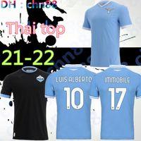 Thailandia 21 22 Lazio Muriqi Soccer Jerseys 2021 2022 Camiseta de fútbol immobile Caicedo Luis Sergej Correa Lulic 120 anni Camicie anniversario Uomo + Bambini