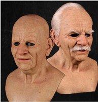 기타 이벤트 파티는 노인의 얼굴 가발을 공급합니다. 눈 방패를 가진 남자를위한 할로윈 패션 코스프레 애니메이션
