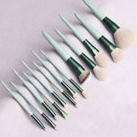 MyDestiny makeup brushes set-The Matcha green 13pcs cosmestic brushes-foundation&powder&blush fiber beauty pens-make up tool