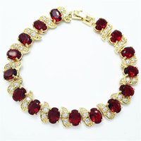Link, Chain Egg Style RED Design White Color Bracelets & Bangle For Women Gold Stone Jewelry Gift