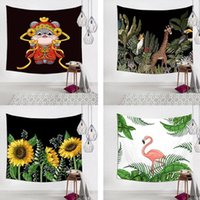 Tapestries 3D Print Scenic Animals Tapestry Hanging Wall Blanket Bedroom Decorations Pictures Artificial Fabric Carpet Backdrop