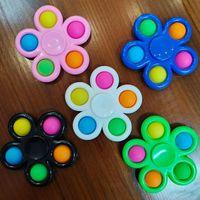 Mais Fidget Spinner 5 lados personalizados dedo brinquedos flip
