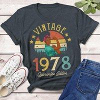 Vintage 1978 Quarentena Edição T-shirt Africano Mulheres 43 43 º Presente de Aniversário Idéia Meninas Mamãe Filha engraçada Retro Camiseta Mulheres