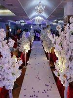 1.5M 5feet высота белый искусственный вишневый цвет дерева римской колонны дороги для свадебного торгового центра открыли реквизиты