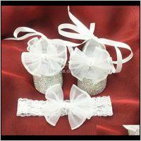 Первые ходунки настроенные девушка украшенные кристаллы благородные атласные роскошные детские подарок девочек крещении обувь BB33 ZZATQ 2PIR9
