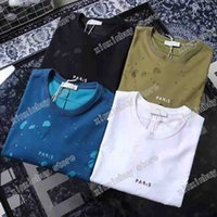 2021 diseñadores tshirts tshirts camisetas para mujer t-shirts polo agujero desgaste de la letra impreso hombre paris moda camiseta camiseta camiseta calle de manga corta luxurys blanco negro azul verde