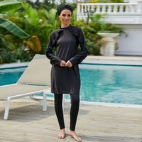 Burkini Long Mujer Abaya Dubai Arabe Musulman Musulman Maillots de bain 3 Pièces Maillot de bain Turquie Maillots de Bains Musulmans Ensemble Femme