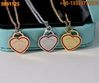 Tiff s925 sterling silver pendant jewelry high-end craftsmanship, with official logo blue heart necklace wholesale
