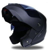 DSSTYLES Açık Bisiklet Ekipmanları Unisex Çift Lens Sürme Kask Slip Up Yarış Kask Modüler Çift Lens Motosiklet1