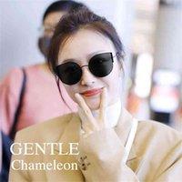Gafas de sol de moda 2021NewFashionKoreAbrand GM Gafas de sol womensunglassescateyeglassessesgle chameleonpolarizeduv400sunglasesmenwomen con estuche