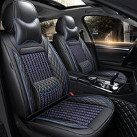 5 Araba Koltuğu Kapakları Tam Set ile Su Geçirmez Deri Evrensel Çoğu Sedan SUV Kamyon Fit için Fit Elantra Sonata Sportage CRV Accord Chevy Equinox (Siyah 1 Takım)