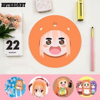 Mouse Pads & Wrist Rests BBTHBDNBY Vintage Cool Himouto! Umaru-chan Round Pad PC Computer Mat Gaming Mousepad Rug For Laptop Notebook