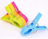 11.5 cm 큰 밝은 색상 의류 클립 플라스틱 후크 해변 수건 PEGS Clothespin 클립 Sunbed 여러 가지 빛깔의 DHD6901
