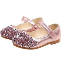 الأحذية المسطحة الأميرة بريق الاطفال جلدية للفتيات الصغيرات اللباس الزفاف الرقص شوس الأطفال الطفل 1 2 3 4 5 6 سنوات من العمر B03
