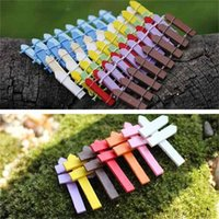 Wholesale Mini Fencing Fence Fairy Garden Miniatures Gnome Moss Terrariums Desktop Bottle Garden Resin Crafts OWD6751